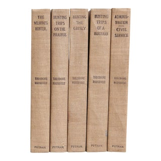 "T. Roosevelt ""Pocket-Sized"" Cabin Classics Books- Set of 5"
