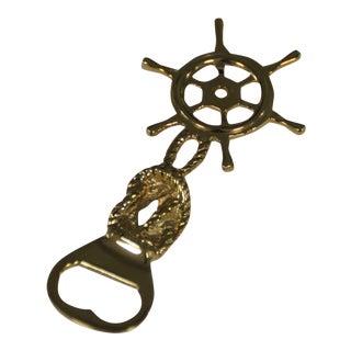 Brass Ship Captain's Wheel Bottle Opener
