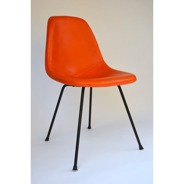 Herman Miller Eames Orange Vinyl Side Shell Chair - Image 2 of 9