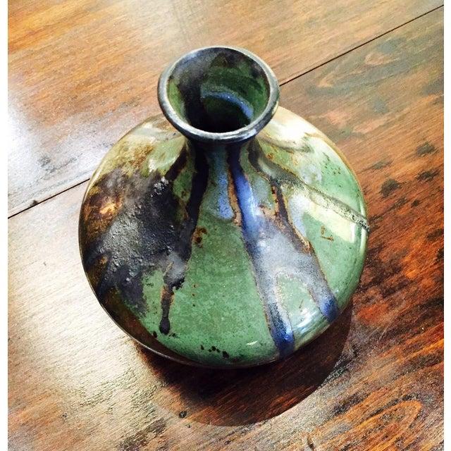 Image of 1970's Era Glazed Ceramic Vase
