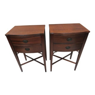 Traditional Style Mahogany Night Stands - A Pair