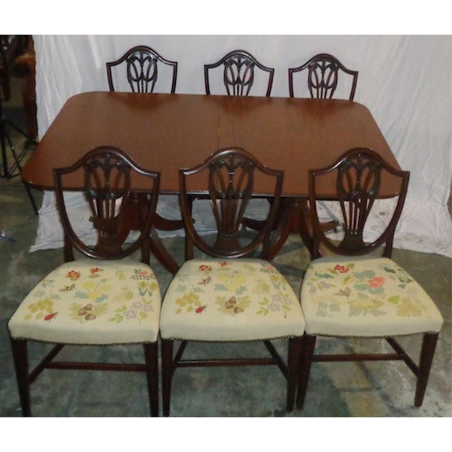Duncan Phyfe Dining Room Set: Mahogany Duncan Phyfe-Style Dining Set With 6 Chairs
