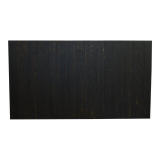 Queen Size Hanger Barn Walls Headboard in Black Distressed Color