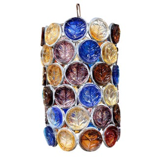 Feders Hanging Chandelier Colored Glass