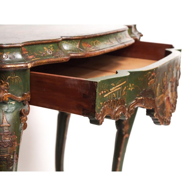 Chinoiserie Decorated Console Table with a Drawer - Image 7 of 11