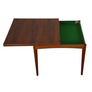 Danish Modern Teak Square to Rectangle Dining / Game Table