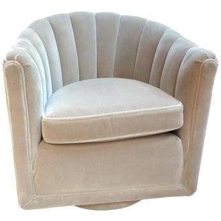 Dunbar Channel Back Swivel Chair by Ed Wormley