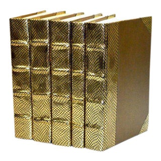 Exotic Metallic Collection Gold Books - Set of 5