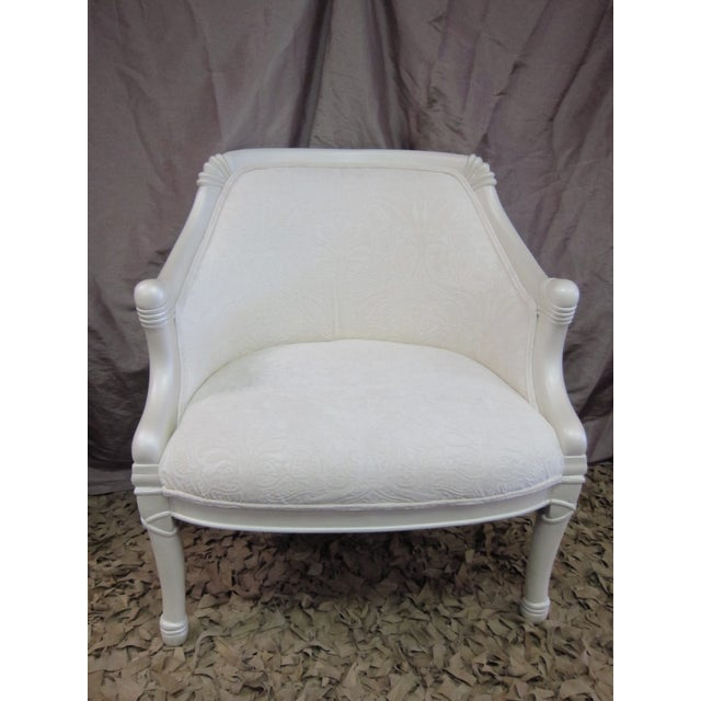 Vintage Pearl Damask Chairs - A Pair - Image 6 of 10