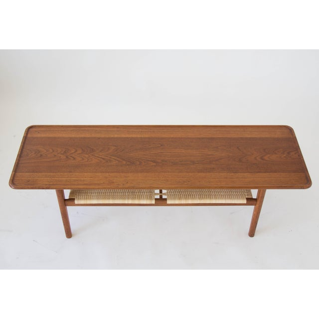 Hans Wegner AT-10 Coffee Table with Cane Shelf - Image 6 of 8