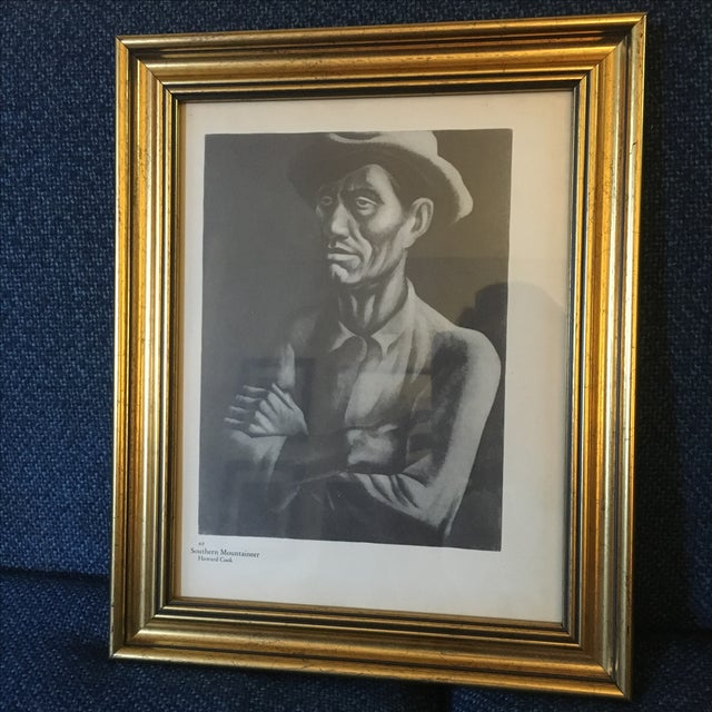 "Image of Vintage Howard Cook Print ""Southern Mountaineer"""