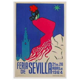 1964 Original Spanish Travel Poster, Seville