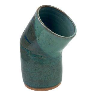Modernist Signed Cylinder Studio Pottery Vase