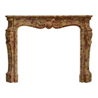 19th Century Breche d'allepe Louis XV Fireplace Mantel