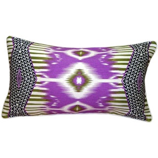 Electric Ikat Purple Pillow