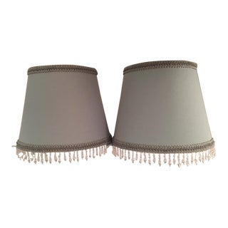Fringe Decorated Lamp Shades - A PAir