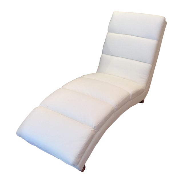 White Chaise Lounge - Image 1 of 7