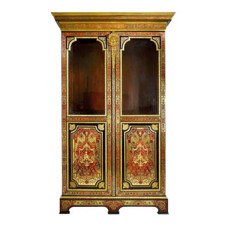 Stamped Boulle Cabinet by Nicolas Sageot