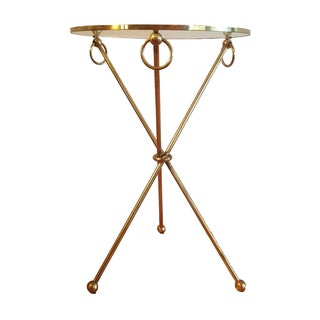 Vintage French Brass Side Table