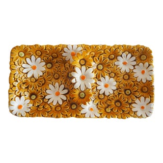 Vintage Fred Roberts Daisy Serving Dish