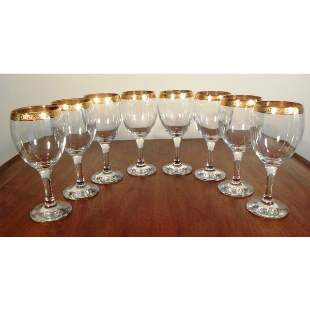 Image of Vintage Hand Blown Glasses - Set of 8