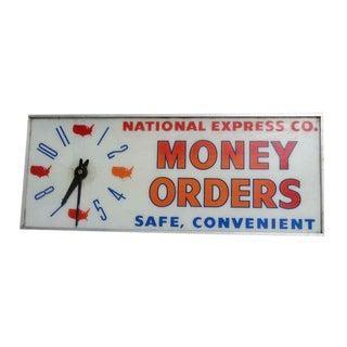 National Express Co. Money Order Clock Light