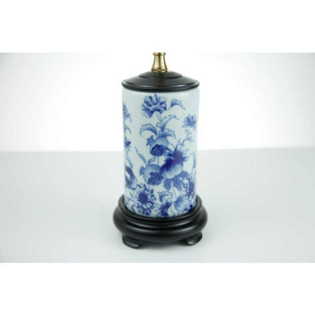 Image of Blue and White Chinese Vase Lamp