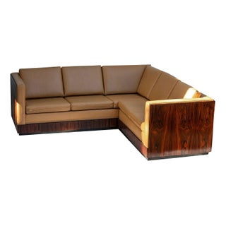Milo Baughman Rosewood Wrapped Sectional