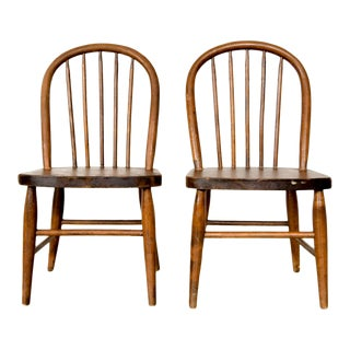 Rustic Children's Hoopback Chairs - A Pair