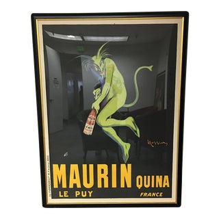 """Maurin Quina Le Puy France "" Vintage Framed French Poster"