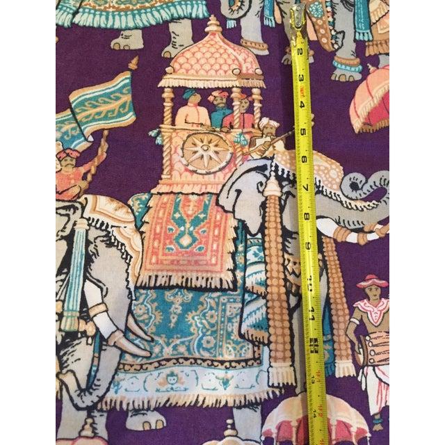 Vintage India Elephant Festival Fabric - 2 Panels - Image 5 of 6