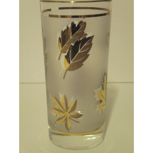 Gold Leaf Pattern Barglasses - Set of 12 - Image 6 of 7