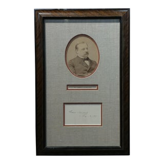 Grover Clevaland -22nd & 24th US President - Original Signature with Photograph-1891