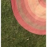 Image of Vintage Hand Woven Oval Rag Rug- 11' x 14'