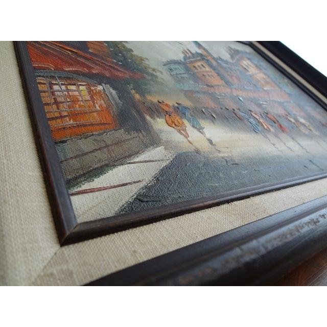 Vintage Impressionist European Street Scene Signed 'Simon' Oil on Canvas - Image 3 of 11