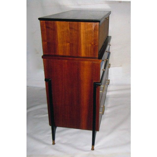 Mid-Century Modern Walnut & Painted Dresser - Image 6 of 8