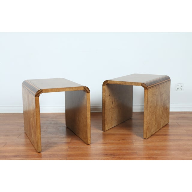 Mid Century Burlwood Nightstands - 2 - Image 2 of 9