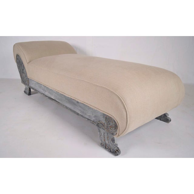 Image of Vintage Painted Empire Chaise Longue