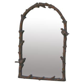 Antiqued Gilded Wall Mirror