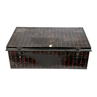English Cathedral Handpainted Metal Trunk