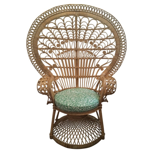 Rattan Peacock Chair Chairish