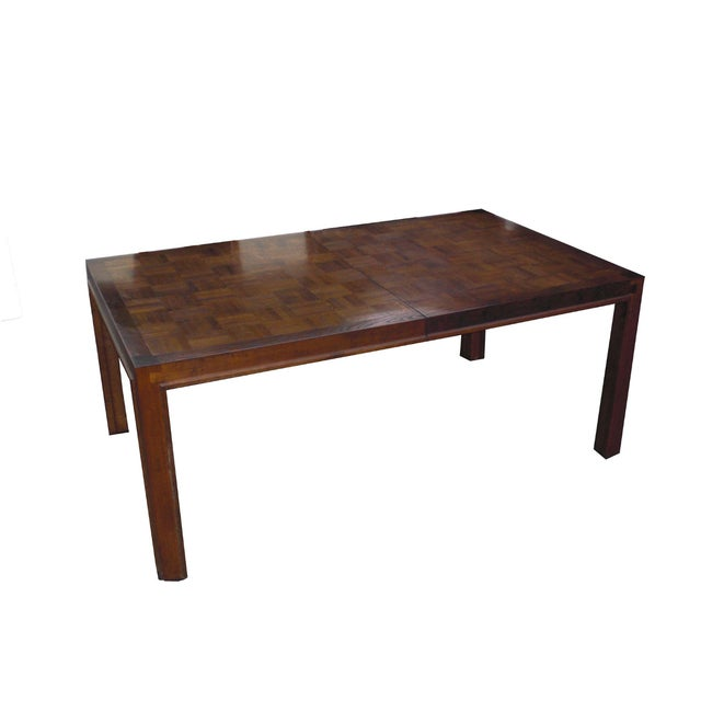 Mid-Century Modern Formica Wood Dining Set - Image 5 of 9