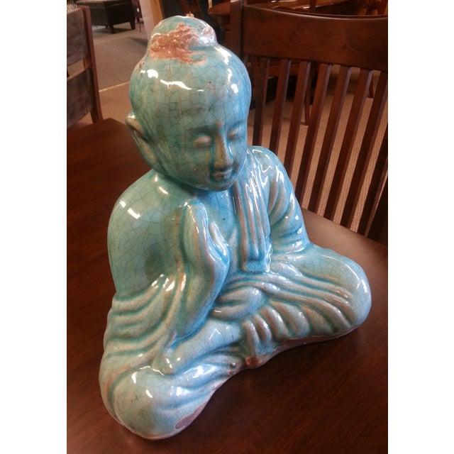 Turquoise Sitting Buddha Statue - Image 5 of 8