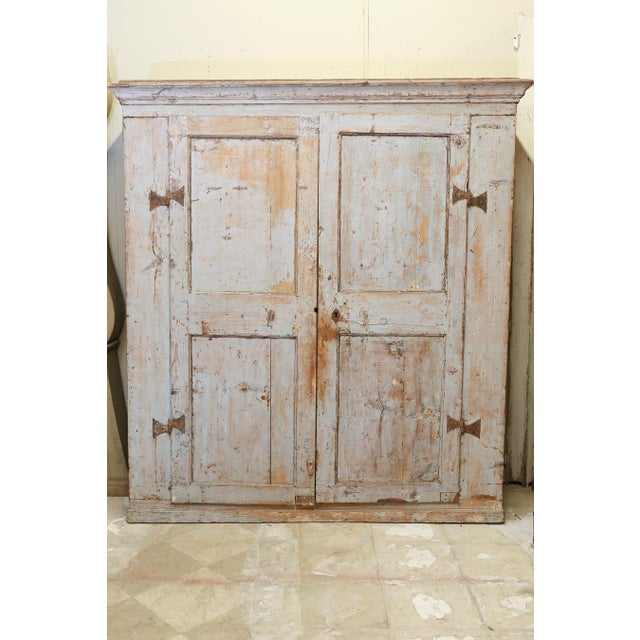 Antique Provincial Painted Italian Armoire - Image 4 of 6