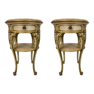 Pair of Italian Giltwood Side Tables