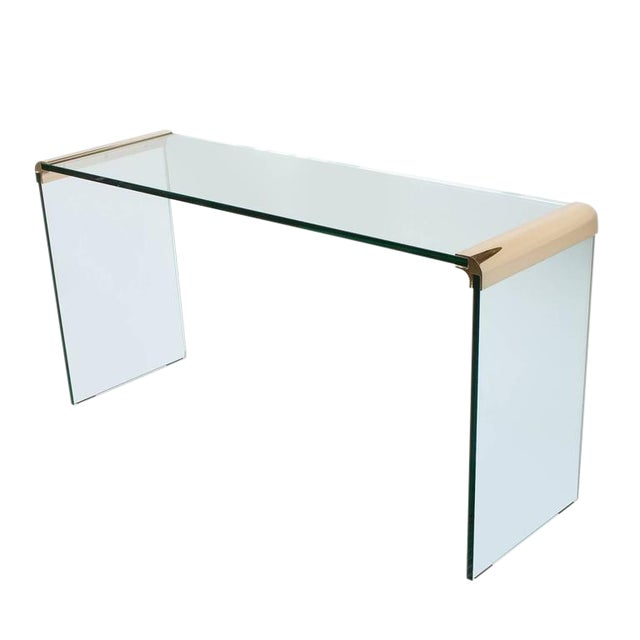 Leon Rosen for Pace Waterfall Console Table-Pair Available - Image 1 of 6