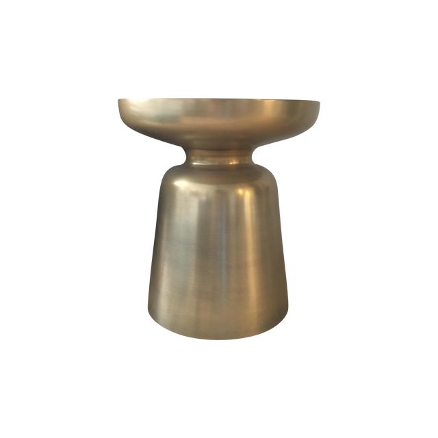 West Elm Brass Martini Side Table - Image 1 of 4
