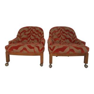 Pair Vintage Modern Side Chairs