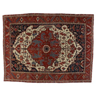 Antique Persian Serapi Rug - 11′7″ × 15′4″