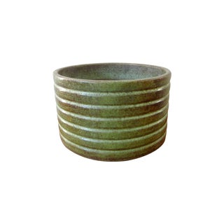 Gainey Glazed Green Textured Ceramic Planter